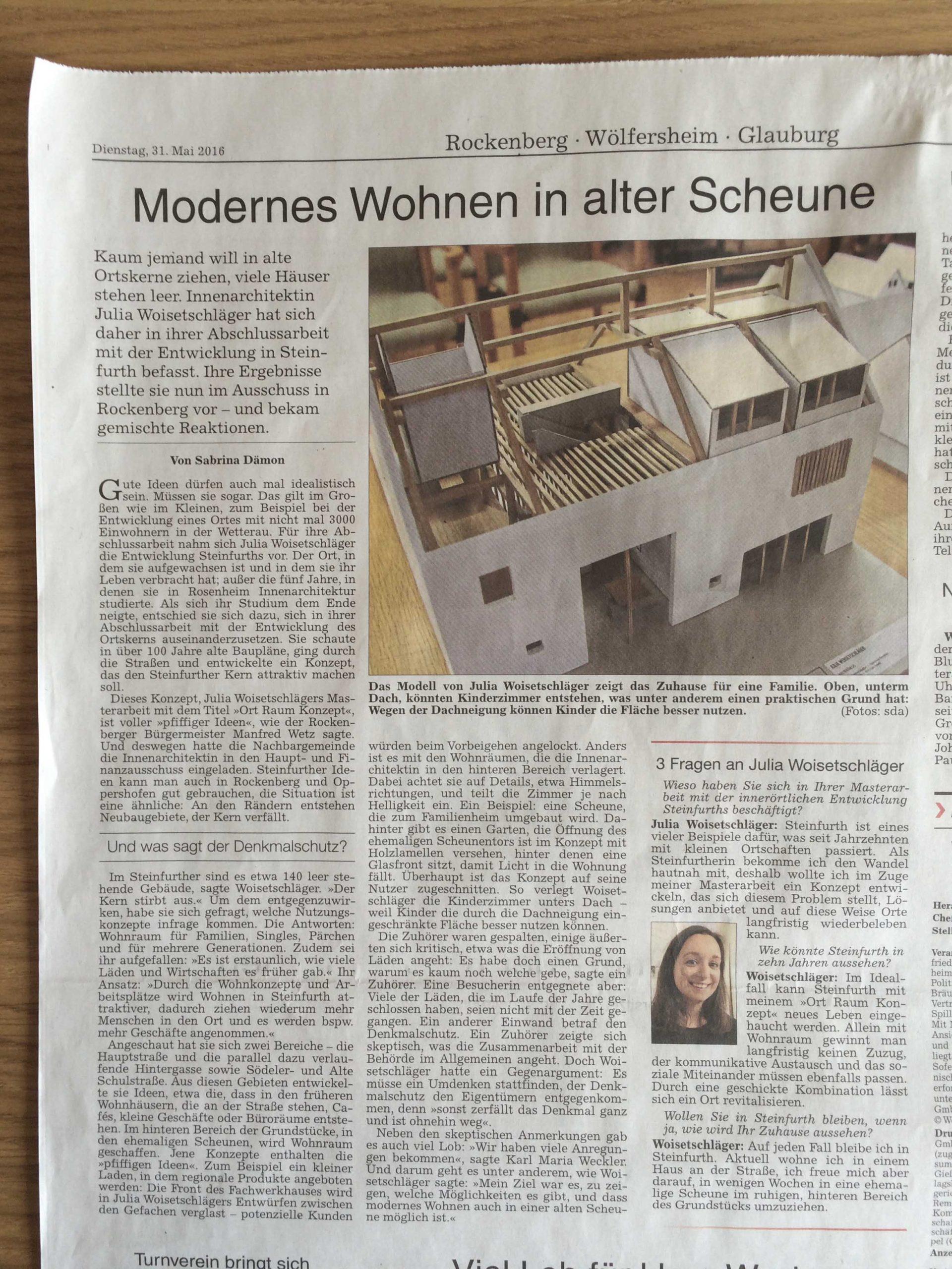 Modernes Wohnen in alter Scheune
